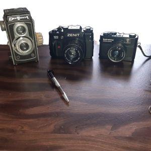 3 ΦΩΤΟΓΡΑΦΙΚΕΣ ΜΗΧΑΝΕΣ ΜΑΖΙ ΜΕ ΤΟ ΦΛΑΣΣ + ΠΟΛΥΕΡΓΑΛΕΙΟ ΣΤΥΛΟΣ ΑΦΗΣ ΚΑΙ ΦΑΚΟΣ