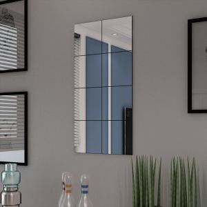 vidaXL Καθρέφτης Χωρίς Πλαίσιο σε Τετράγωνα 8 τεμ. 20,5 εκ. Γυάλινος-242729