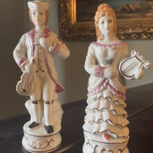 2 Vintage Πορσελάνη Αγαλματίδια Άντρας Γυναίκα