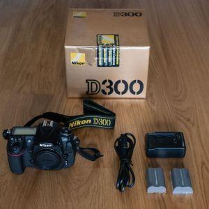 Σώμα μηχανής Nikon D300 (12,3MP) + 2η μπαταρία