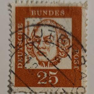 Balthasar Neumann / 25 Pf/ Γερμανία / 1961
