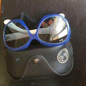 Γυαλιά ηλίου ray ban, μπλε τυρκουαζ με άσπρους βραχιονες