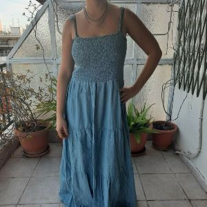 Maxi τύπου τζιν φόρεμα