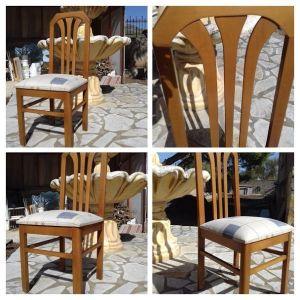 3 ξύλινες μασίφ καρέκλες