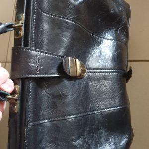 Δερμάτινη ιατρική ιταλική  τσάντα Old Angler, Firenze.