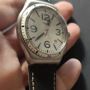 ΡΟΛΟΙ Unisex Swatch Caterhblack Watch YWS403C