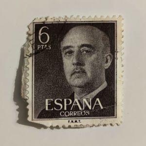 Francisco Franco - Γραμματόσημο Ισπανίας (1955)