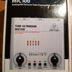 Beringer MIC100 Tube Ultragain, Audiophile Vacuum Tube Preamplifier with Limiter