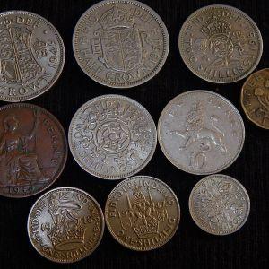Μεγάλο λοτ με 58 νομίσματα απο την Αγγλία.