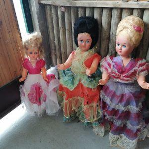 Τρεις συλλεκτικες πολύ μεγάλες κούκλες δεκαετίας 1970