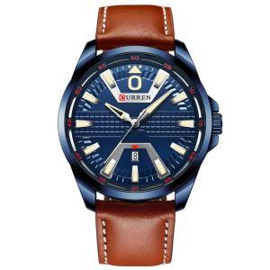 Ανδρικό ρολόι Curren με δερμάτινο λουράκι, κούμπωμα τοκάς & μηχανισμό ακριβείας Quartz.