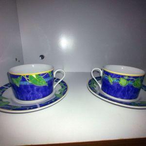 Σετ 6 φλυτζάνια του τσαγιού/καφέ με τα πιατάκια τους Vintage