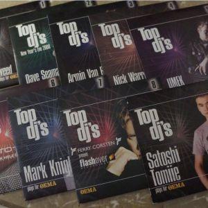 9 CDs της σειράς ''TOP DJ΄s'' (2007-'08)