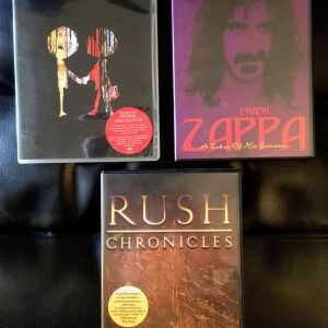 Rush / Radiohead / Frank Zappa DVD