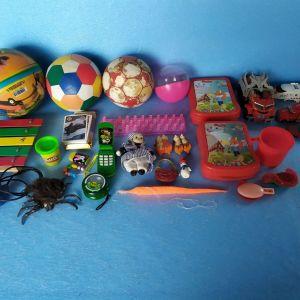 παιδικα παιχνιδια διαφορα,τεμαχια=30,τιμη για ολα μαζι=10€