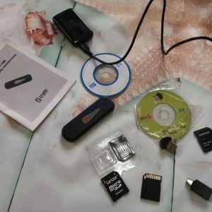 Διαφορα USB micro USB micro SD,SDHC,SDXC,SD/MMC,CF/MD,MD/MSPRO/XD,POWER,Mini BDNC 100 Bluetooth USB dongle v1.0