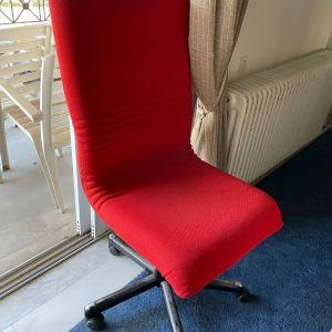 3 καρέκλες υφασμάτινες (Dromeas) πωλουνται ανα τεμαχιο ή μαζι. Κοκκινο χρωμα, χωρις φθορες και πολυ αναπαυτικες