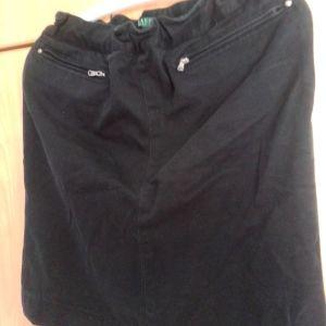 Φούστα μαύρη με φερμουάρ στις τσέπες Lauren Ralph Lauren ελάχιστα χρησιμοποιημένη με λάστιχο στη μέση ελαφρώς ελαστικη