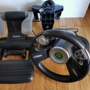 ιμονιέρα Xbox Original Saitek Steering Wheel (Στο κουτί της)