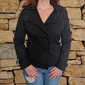 Παλτό μαύρο με βάτες
