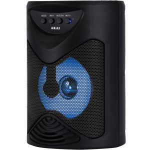 Akai ABTS-704 Φορητό ηχείο Bluetooth karaoke με USB, TWS, LED, micro SD και είσοδο μικροφώνου – 5 W