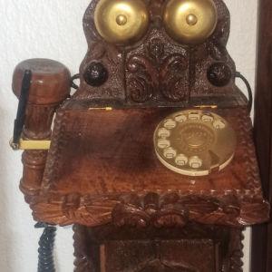 Χειροποίητη Ξύλινη Τηλεφωνική Συσκευή