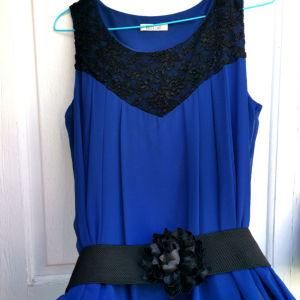 Φόρεμα Μπλέ Σκούρο Ελληνικής κατασκευής