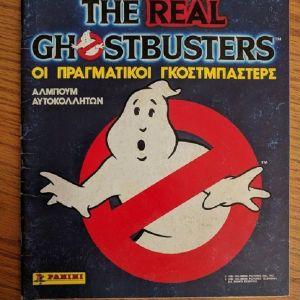 Ελληνικό Άλμπουμ Panini The Real Ghostbusters (1987) σε πολύ καλή κατάσταση συμπληρωμένο κατά 39%