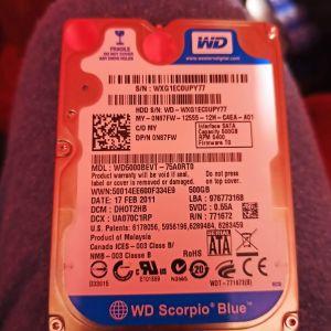 hdd western digital 500gb 2.5