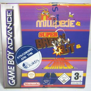 NINTENDO GAME BOY ADVANCE MULLIPEDE & SUPER BREAK OUT & LUNAN BRAND NEW