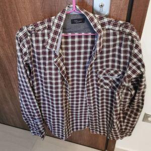 Ανδρικο πουκάμισο καρό zara αφόρετο μέγεθος large