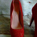 Γόβες με Ψιλο Τακούνι  Κόκκινο χρωμα.