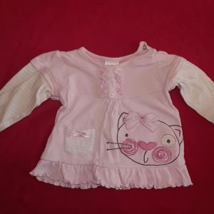 Σετ λευκό/ροζ (6-12 μηνών)