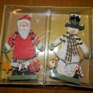 ολοκαινουργιο ξυλινο χριστουγεννιατικο σετ