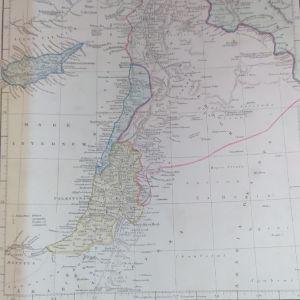 Κυπρος Συρία Παλαιστίνη Χάρτης 1841εκδοτης E. P. Williams Eton