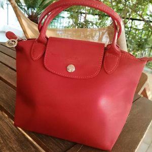 Τσάντα longchamp le pliage χρώματος κόκκινο