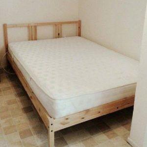 Κρεβάτι διπλό + κομοδίνο