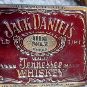 JACK DANIELS.olt no 7brano..συλλεκτική δερμάτινη μεγαλλη ζώνη σε καφέ χρωμα