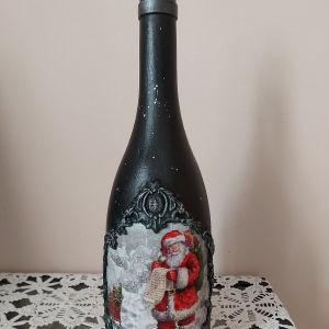 Χειροποίητο χριστουγεννιατικο μπουκαλι