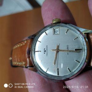 TECNOS , κουρδιστό ρολόι της δεκαετίας του 60 σε πολύ καλή κατάσταση