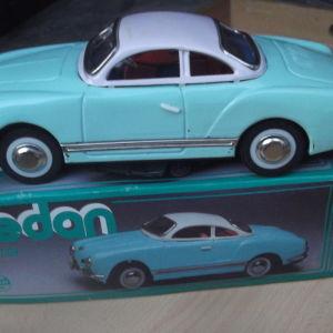 ΜΕΓΑΛΟ Vintage τσίγκινο μοντελο αυτοκινητου Tin Toy Friction Car Karmann Ghia Sedan
