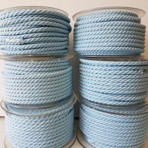 Δίκλωνο κορδόνι σε γαλάζιο για κατασκευές ( μπομπονιέρες κ.λπ.) 6 καρούλια των 15μ.