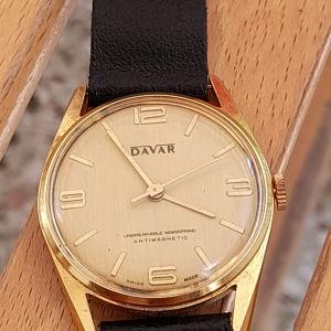 ανδρικό ελβετικό συλλεκτικό ρολόι DAVAR.  κουρδιστό