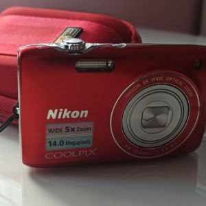 NIKON COOLPIX S3100 Μαύρο Κόκκινο