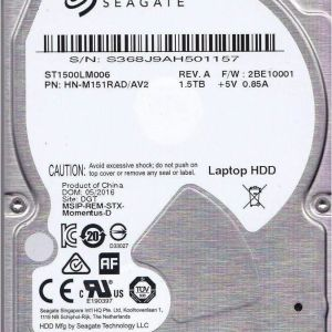 """Seagate Spinpoint 1.5TB 1500GB M9T ST1500LM006 5400 RPM 32MB Cache SATA3 2.5"""" laptop HDD PS3 PS4"""