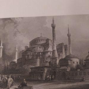 Αγιά Σοφιά Κωνσταντινούπολη Χαλκογραφία Finden