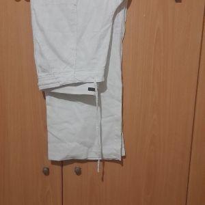 Ασπρη παντελονα λινη M&S μεγαλο μεγεθος ελαχιστα χρησιμοποιημενη