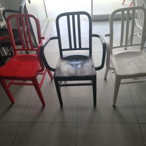 Καρέκλες αλουμινίου με μπράτσα  σε αρίστη κατάσταση