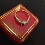 Χρυσό δαχτυλίδι 14Κ με Ζαφειράκι σε άριστη κατάσταση (Όχι παζάρια)