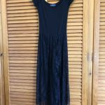 Gypsi μαύρο φόρεμα με δαντέλα κ κρόσσια Rien / gypsi black dress with lace & fringes